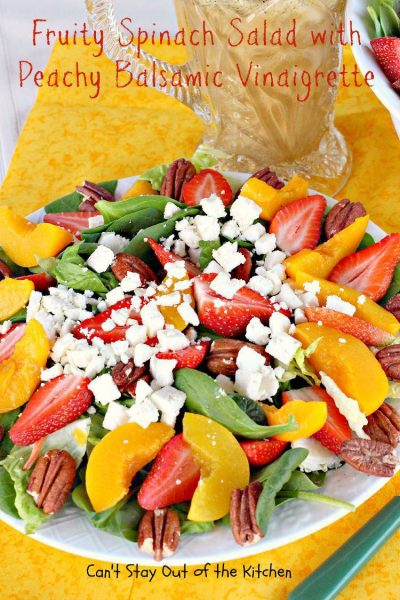 Fruity Spinach Salad with Peachy Balsamic Vinaigrette - IMG_1861