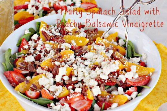 Fruity Spinach Salad with Peachy Balsamic Vinaigrette - IMG_1867