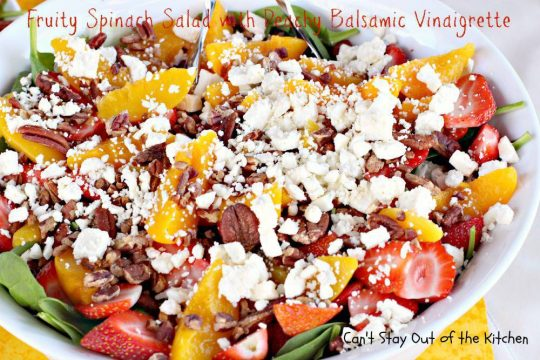 Fruity Spinach Salad with Peachy Balsamic Vinaigrette - IMG_1883