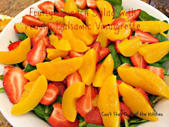 Fruity Spinach Salad with Peachy Balsamic Vinaigrette - IMG_6253