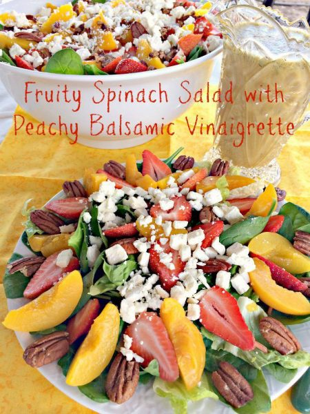 Fruity Spinach Salad with Peachy Balsamic Vinaigrette - IMG_6274