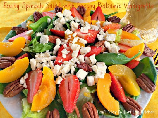 Fruity Spinach Salad with Peachy Balsamic Vinaigrette - IMG_6312