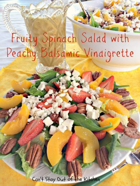 Fruity Spinach Salad with Peachy Balsamic Vinaigrette - IMG_6325