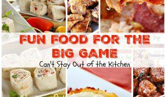 Fun Food For the Big Game