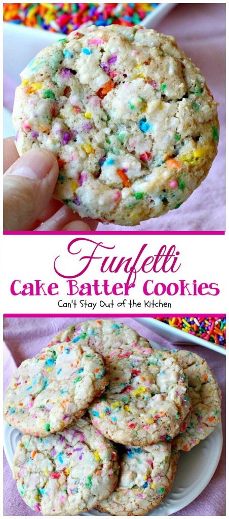 Funfetti Cake Batter Cookies | Can't Stay Out of the Kitchen