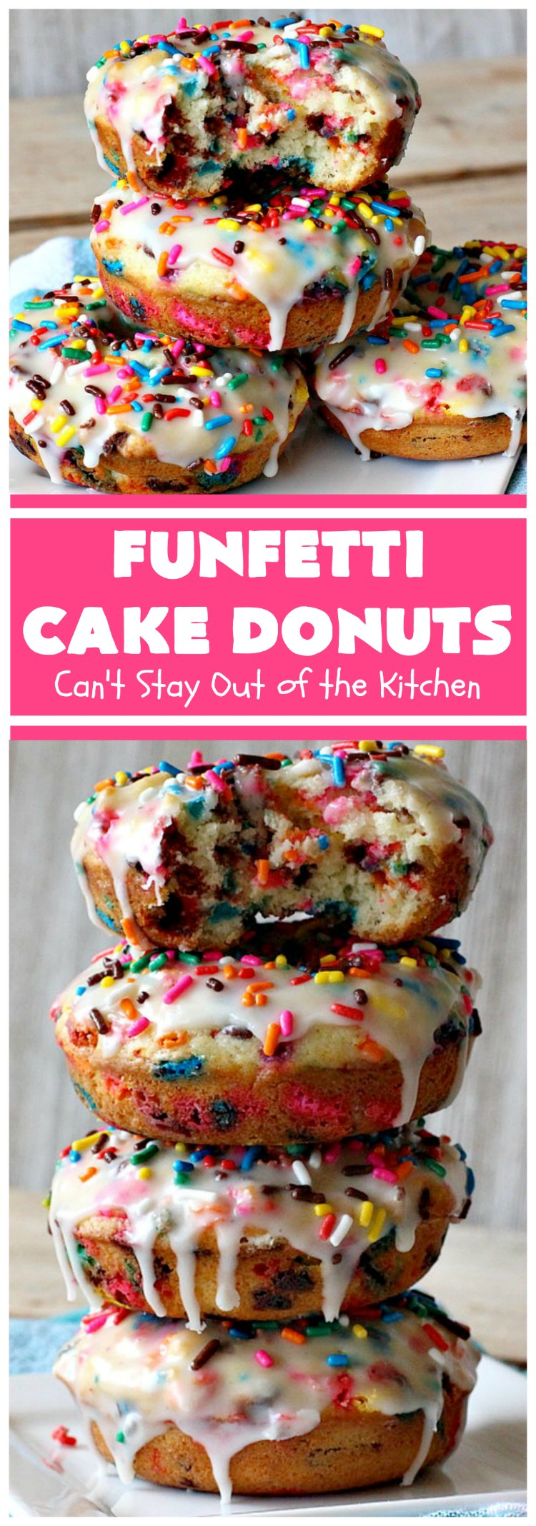 Funfetti Cake Donuts | Can't Stay Out of the Kitchen