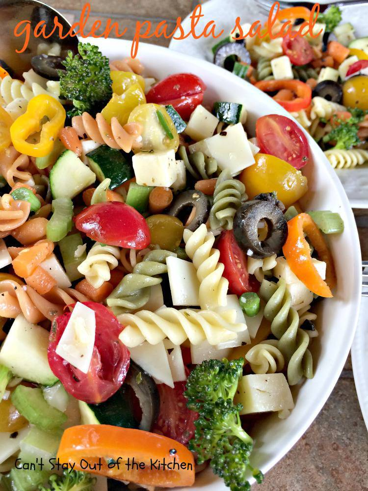 Garden Pasta Salad is a wonderful salad for backyard barbecues and ...