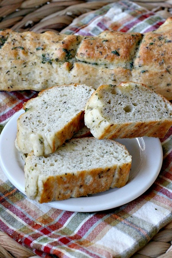 Garlic Herb French Bread   Can't Stay Out of the Kitchen