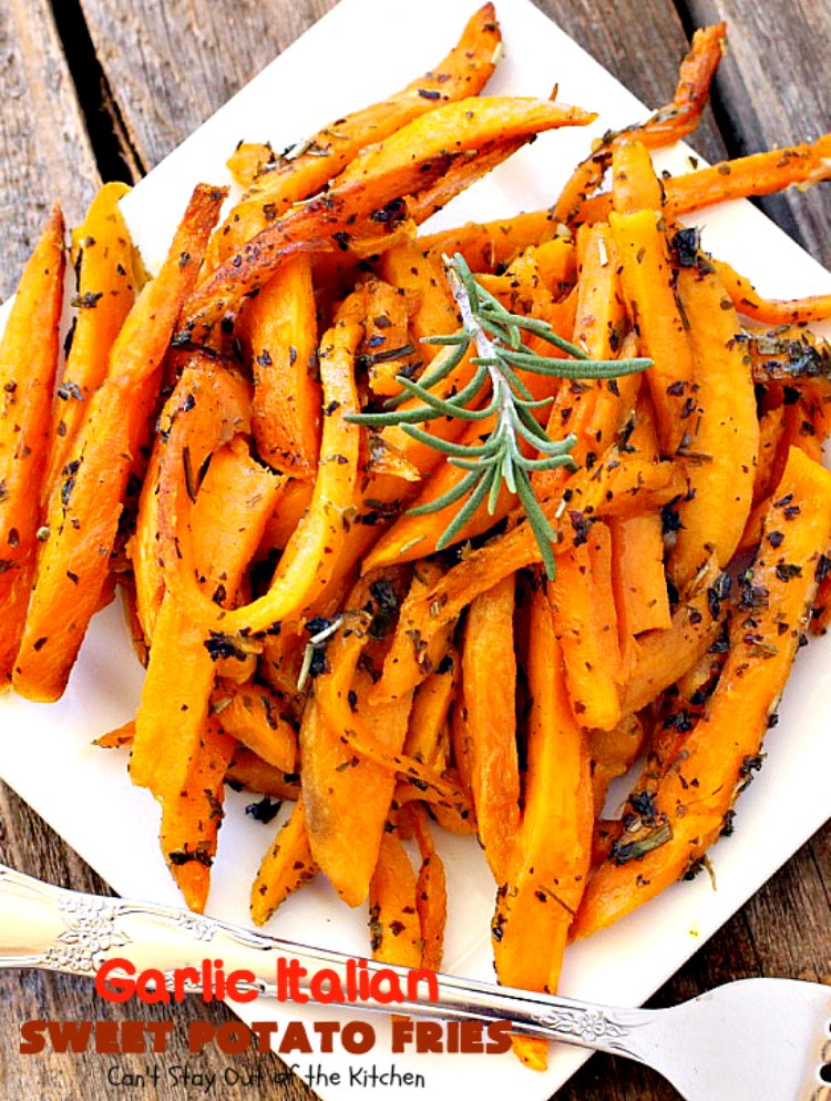 Garlic Italian Sweet Potato Fries