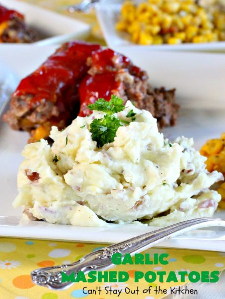 Garlic Mashed Potatoes | Can't Stay Out of the Kitchen | these superb #Garlic #MashedPotatoes are fantastic for #holiday or company dinners like #Thanksgiving or #Christmas. They are so delicious and not too difficult to make. #sidedish #potatoes #casserole #GarlicMashedPotatoes #glutenfree