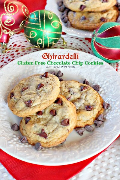 Ghirardelli Gluten Free Chocolate Chip Cookies | Can't Stay Out of the Kitchen