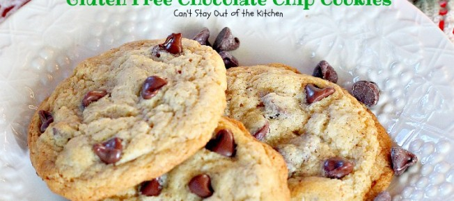 Ghirardelli Gluten Free Chocolate Chip Cookies | Can't Stay Out of the Kitchen | you'll never believe this fantastic #chocolatechip #cookie is #glutenfree! Great for #holiday #baking. #dessert