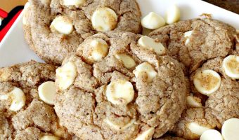 Gingerbread White Chocolate Cookies