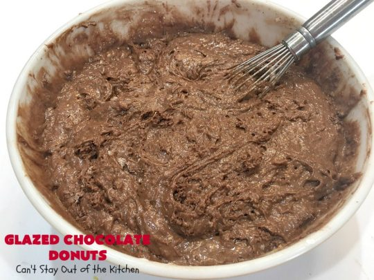 Glazed Chocolate Donuts | Can't Stay Out of the Kitchen | these mouthwatering #donuts are the ultimate in comfort food! They're glazed with a vanilla icing and so delicious you won't be able to stay out of them! #Chocolate #ChocolateDonuts #Breakfast #Holiday #HolidayBreakfast #Brunch #GlazedChocolateDonuts