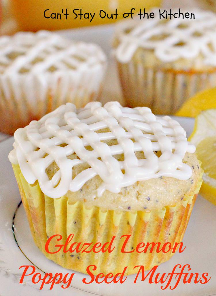 Glazed Lemon Poppy Seed Muffins are to die for! It will be really hard ...