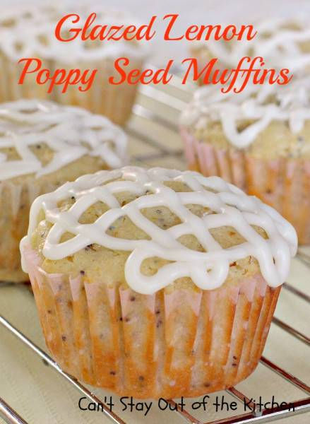 Glazed Lemon Poppy Seed Muffins - IMG_0407