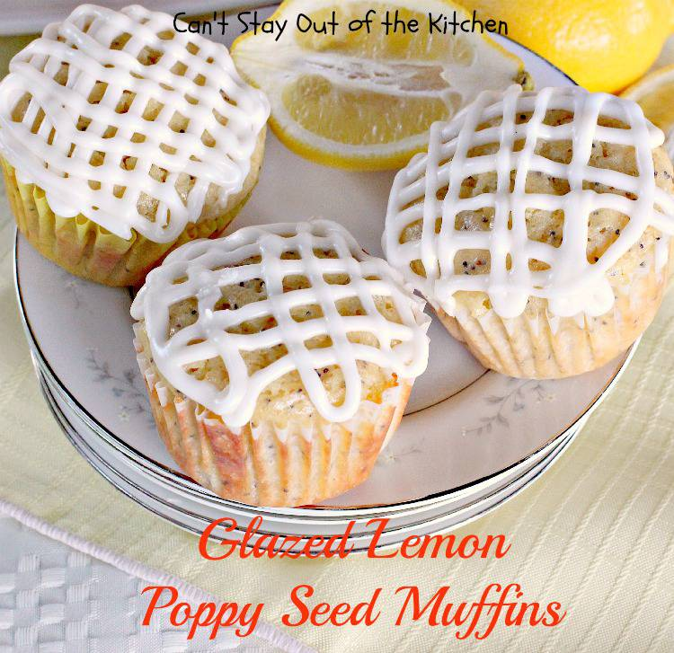 ... three! If you enjoy lemon and poppy seeds, these muffins are for you