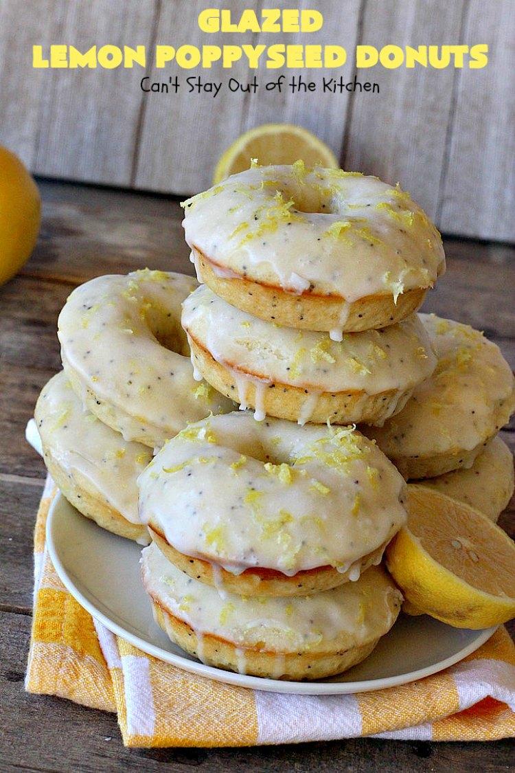 Glazed Lemon Poppyseed Donuts