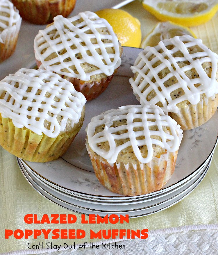 Glazed Lemon Poppyseed Muffins
