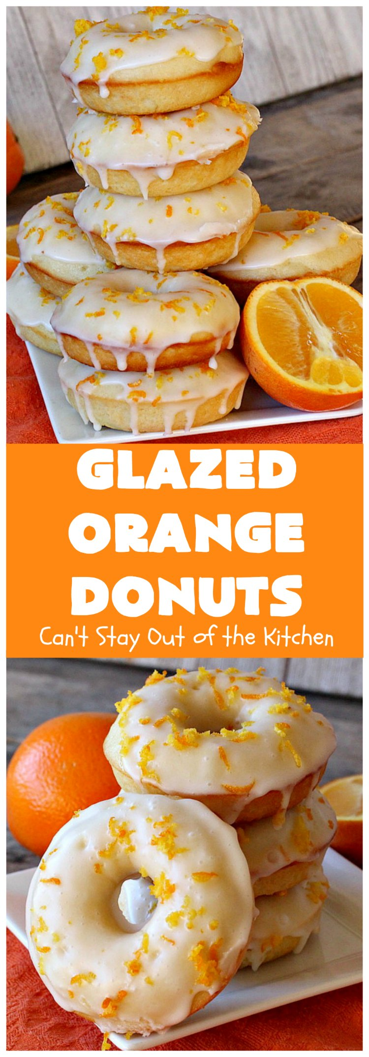 Glazed Orange Donuts | Can't Stay Out of the Kitchen