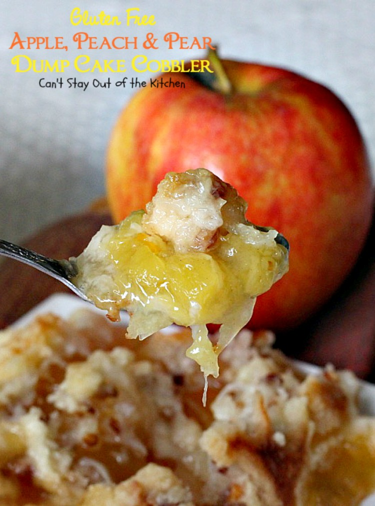 Peach And Pear Dump Cake