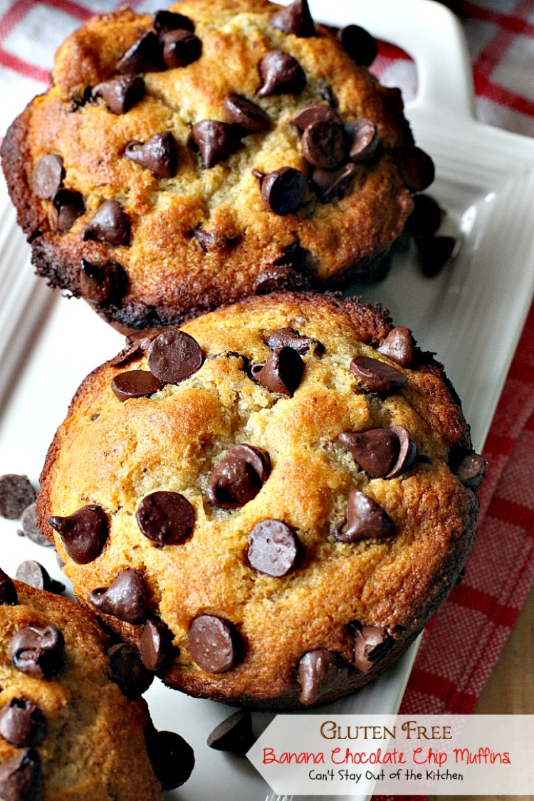 Gluten Free Banana Chocolate Chip Muffins - Can't Stay Out of the ...