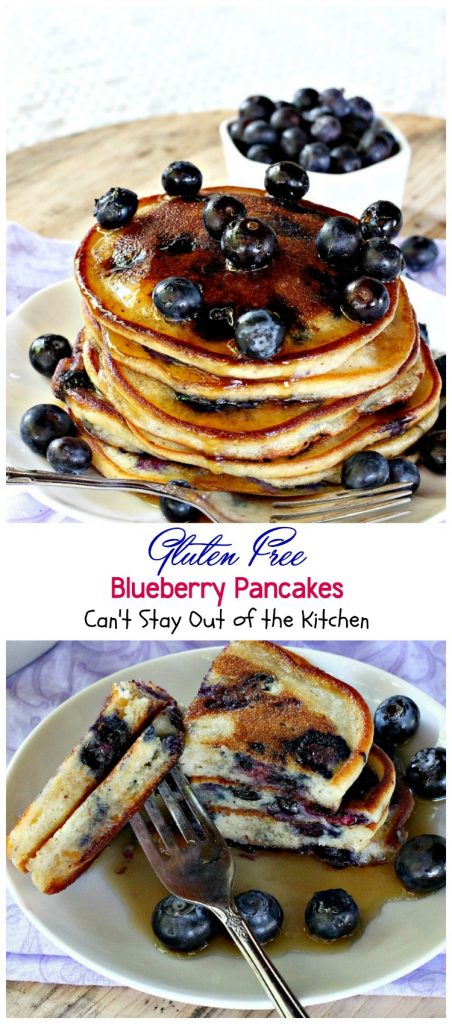 Gluten Free Blueberry Pancakes | Can't Stay Out of the Kitchen