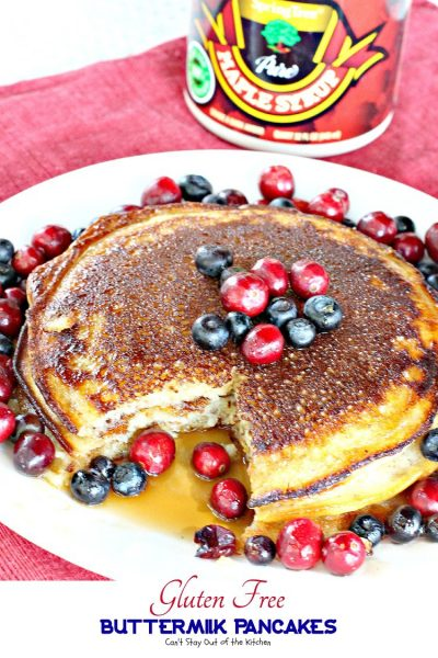 Gluten Free Buttermilk Pancakes | Can't Stay Out of the Kitchen