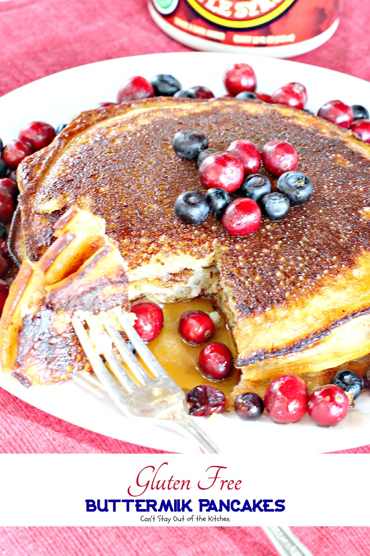 Gluten Free Buttermilk Pancakes - Can't Stay Out of the ...
