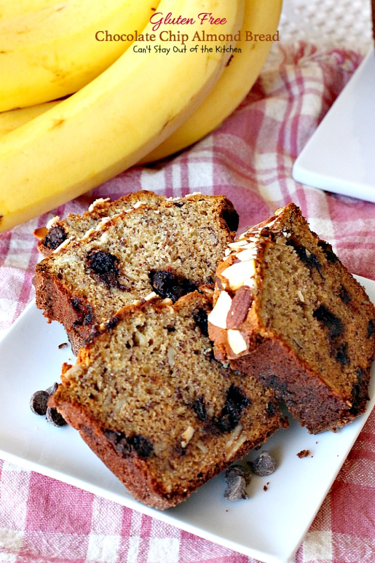 Gluten Free Chocolate Chip Almond Bread - Can't Stay Out of the ...