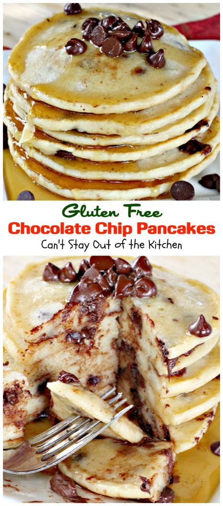 Gluten Free Chocolate Chip Pancakes | Can't Stay Out of the Kitchen