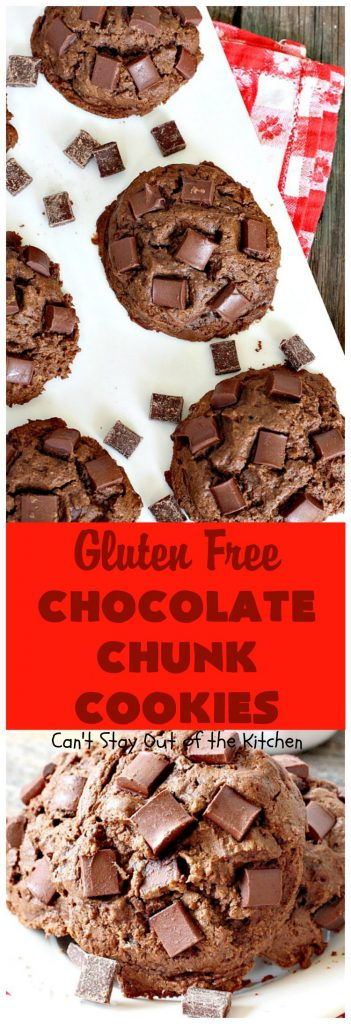 Gluten Free Chocolate Chunk Cookies | Can't Stay Out of the Kitchen