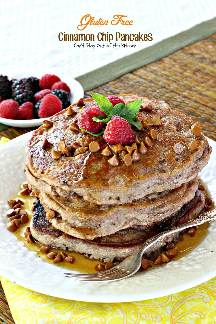 Gluten Free Cinnamon Chip Pancakes | Can't Stay Out of the Kitchen