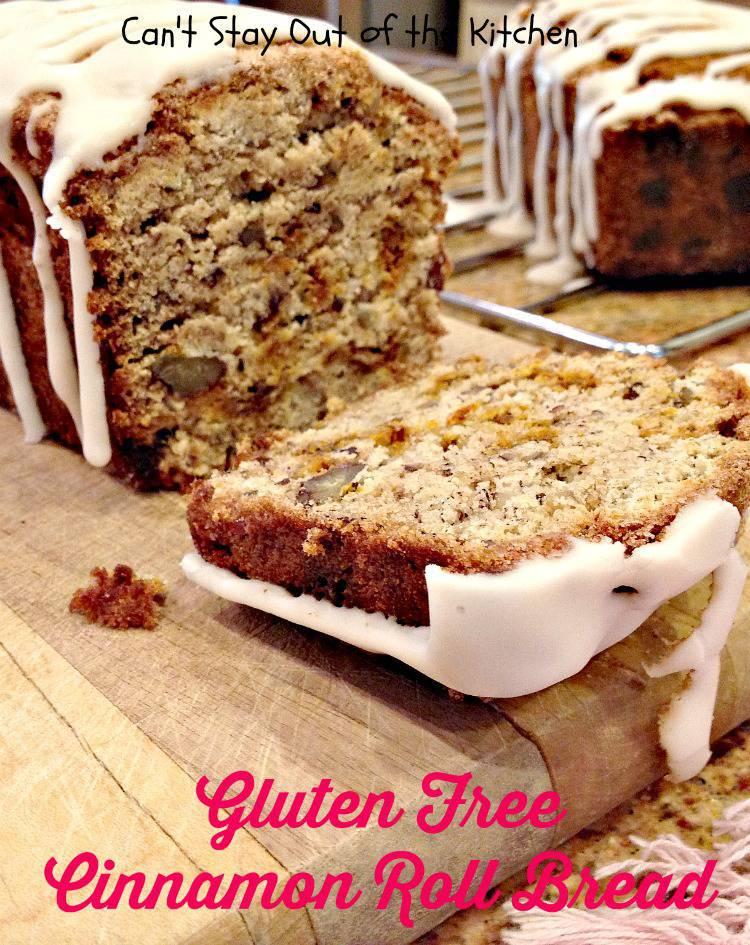 Gluten Free Cinnamon Roll Bread is a scrumptious treat for breakfast.