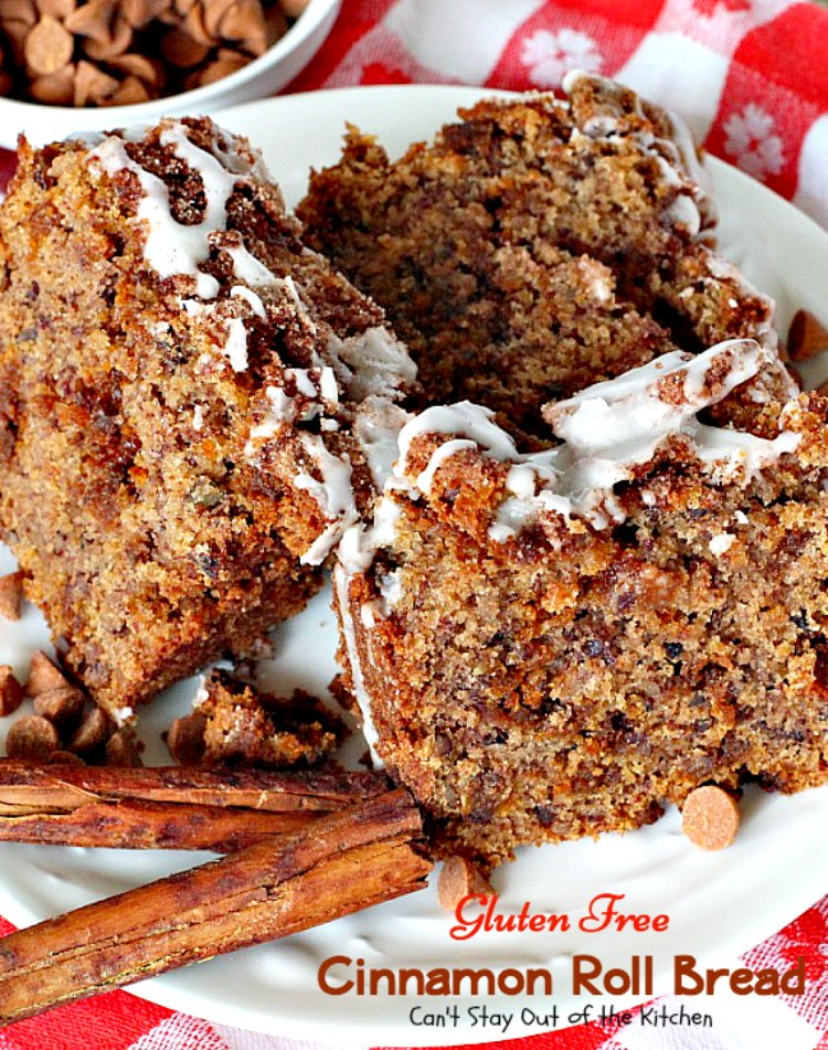 Gluten Free Cinnamon Roll Bread is a luscious treat that's great for ...