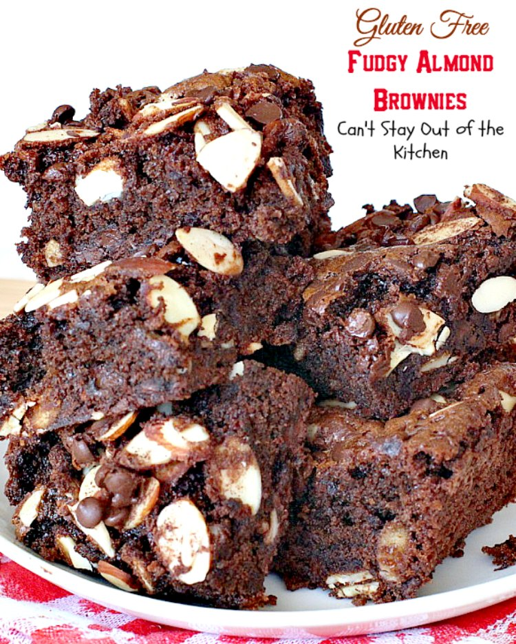 Gluten Free Fudgy Almond Brownies Can T Stay Out Of The