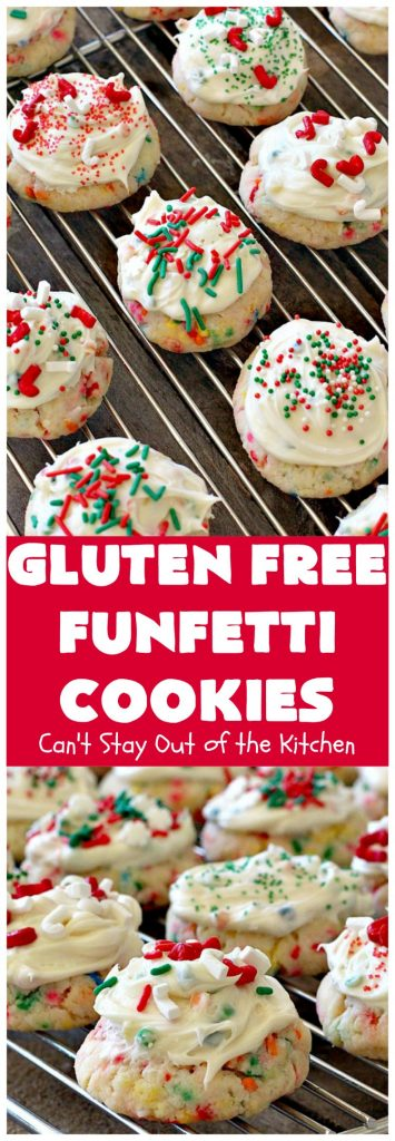 Gluten Free Funfetti Cookies | Can't Stay Out of the Kitchen