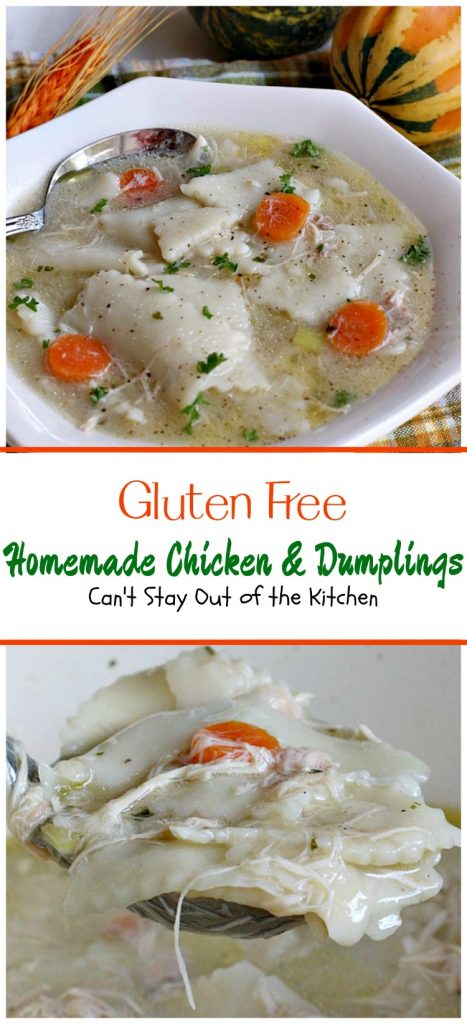 Gluten Free Homemade Chicken and Dumplings | Can't Stay Out of the Kitchen