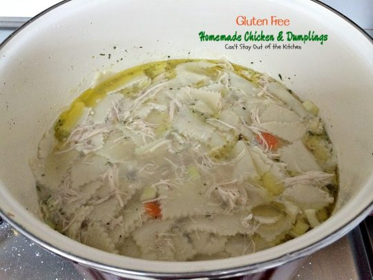 Gluten Free Chicken & Dumplings | Can't Stay Out of the Kitchen | my mom's terrific #chicken and #dumplings but made with #glutenfree flour instead. #soup