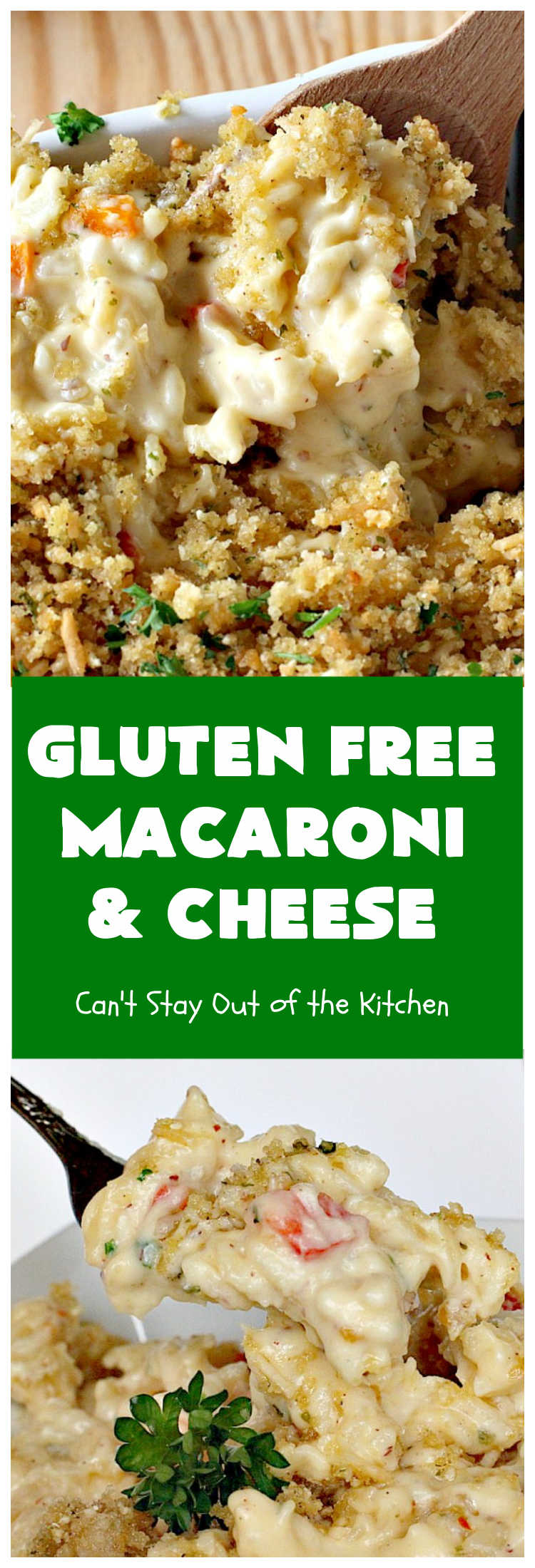 Gluten Free Macaroni & Cheese | Can't Stay Out of the Kitchen | one of the BEST #MacAndCheese dishes you'll ever eat. If you want comfort food, this extra creamy version uses 3 #cheeses! Terrific for family or company dinners. #GlutenFree #MacaroniAndCheese #FavoriteMacAndCheese #GlutenFreeMacaroniAndCheese