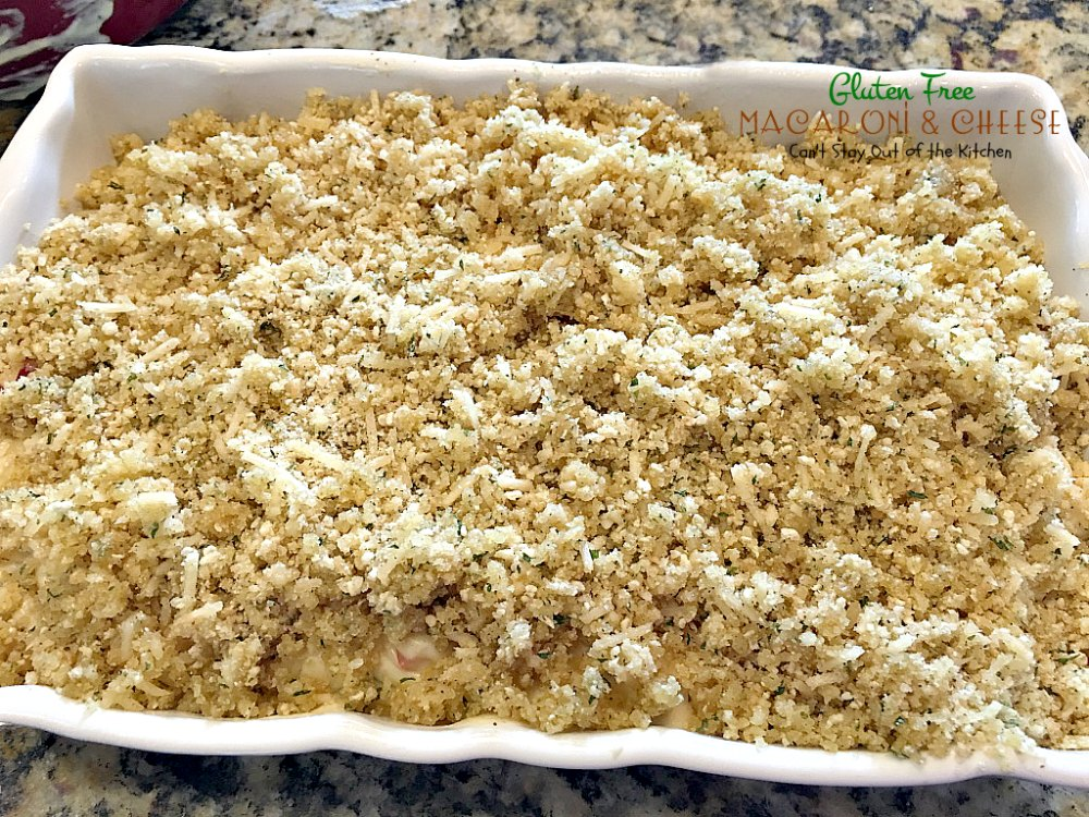 Gluten Free Macaroni and Cheese - Can't Stay Out of the Kitchen