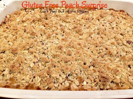 Gluten Free Peach Surprise - IMG_5646