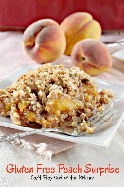 Gluten Free Peach Surprise - IMG_9988