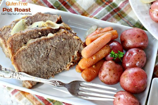 Gluten Free Pot Roast | Can't Stay Out of the Kitchen | wonderful #glutenfree version of my Mom's wonderful #potroast. #beef #potatoes #carrots