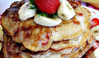 Gluten Free Strawberry Banana Pancakes