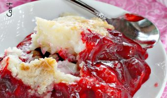 Gluten Free Strawberry Dump Cake Cobbler