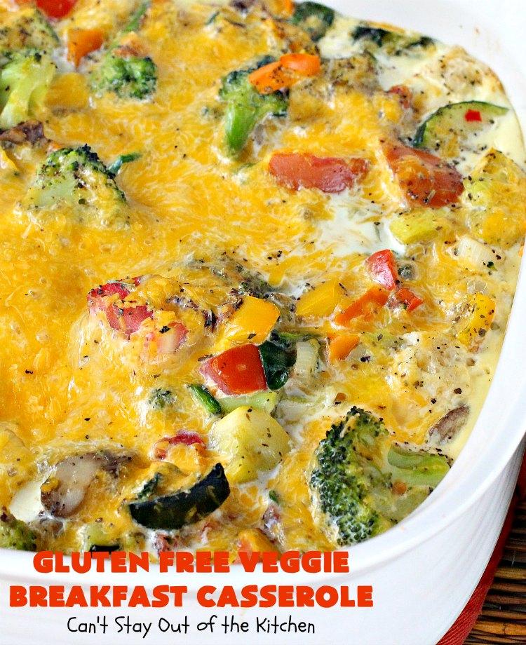 Gluten Free Veggie Breakfast Casserole