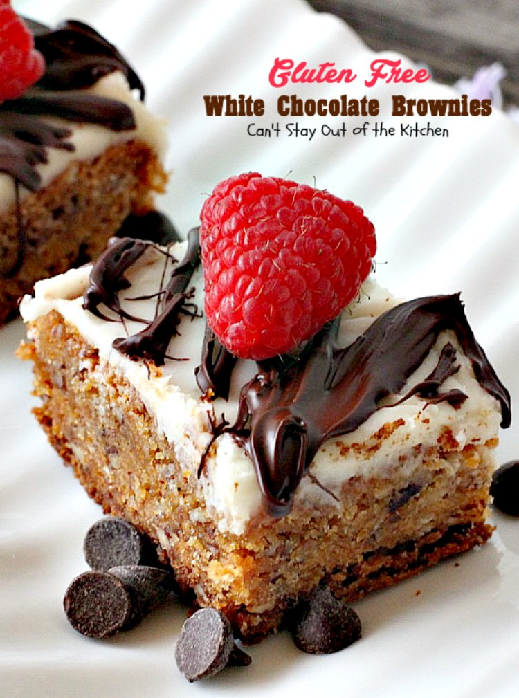 Gluten Free White Chocolate Brownies Can T Stay Out Of