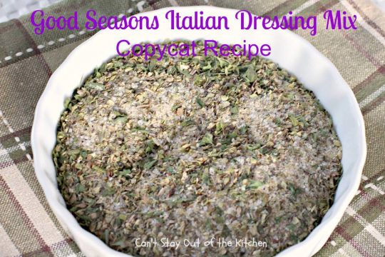 Good Seasons Italian Dressing Mix Copycat Recipe - IMG_1825