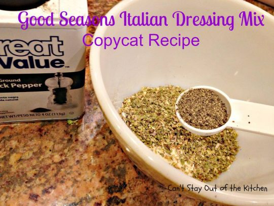 Good Seasons Italian Dressing Mix Copycat Recipe - IMG_7007